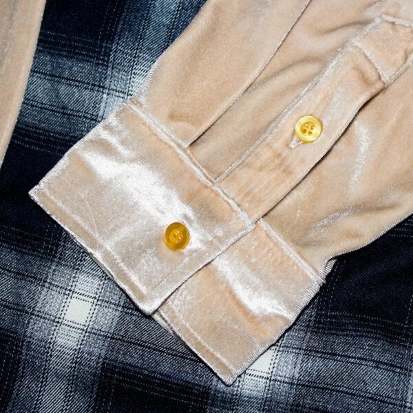 flannel sleeve velour shirt