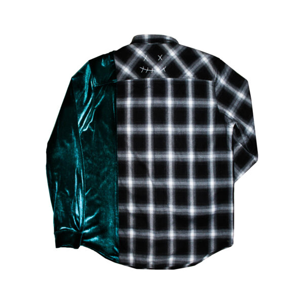 velour flannel green shirt