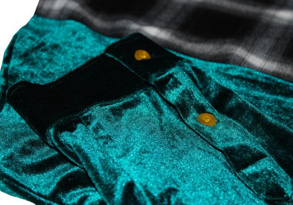velour green sleeve