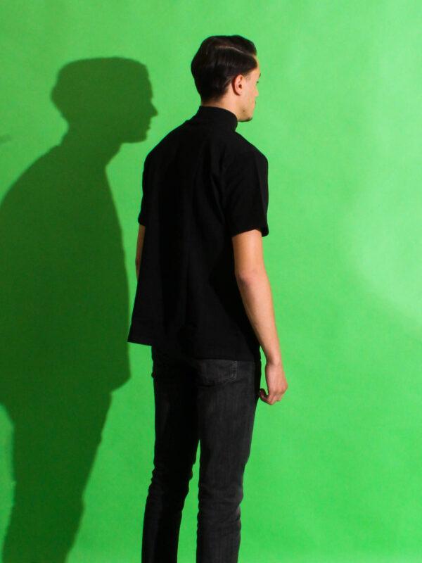 back turtleneck t-shirt