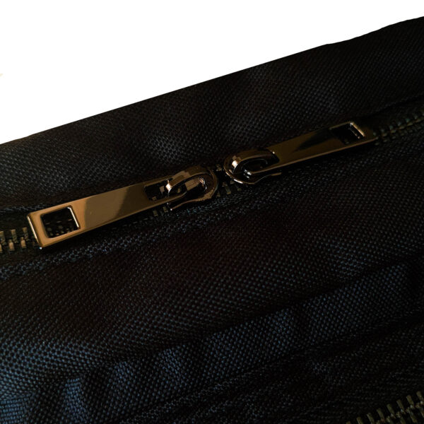 zipper black bag